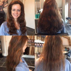 Flip-In Hair van Dante Couture. 45cm met slag