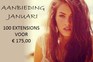 Januari aanbieding: 100 Balmain of Socap extensions voor 175 euro